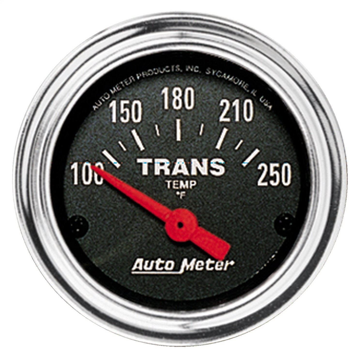 Auto Meter 2552 Traditional Chrome Electric Transmission Temperature Gauge by AUTO METER
