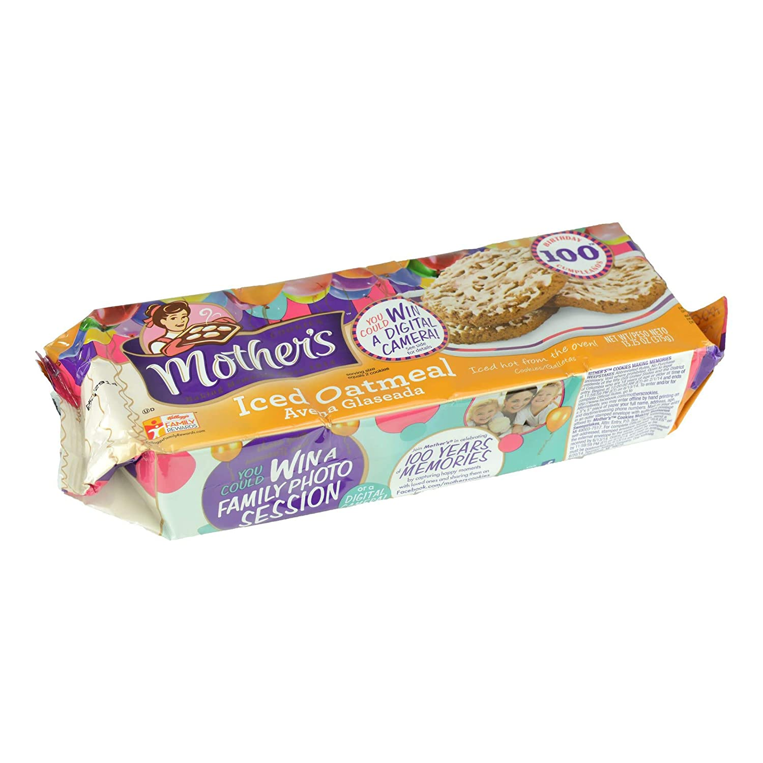 Mothers Iced Oatmeal Cookies, 13.25-Ounce Packages (Pack of 4)