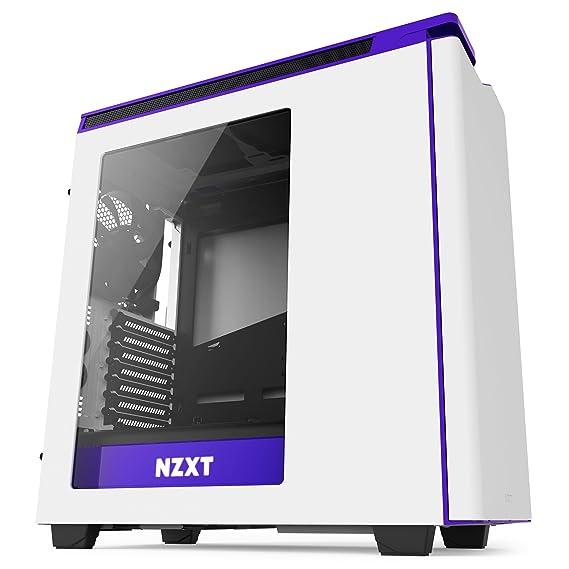 NZXT - Caja de Ordenador H440 Formato ATX con Ventana (CA-H442W-W2), Color Blanco/Morado: Amazon.es: Informática