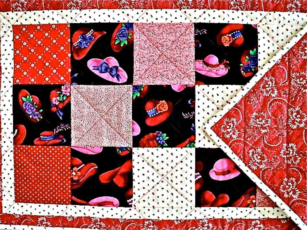 Swell Amazon Com Red Hat Ladies Quilted Table Runner Handmade Download Free Architecture Designs Xaembritishbridgeorg