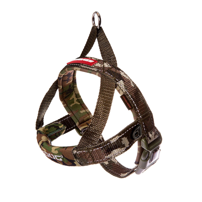 Medium EzyDog Quick Fit Dog Harness, Green Camo, Medium