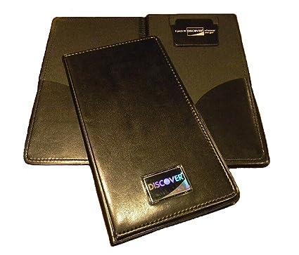 NEW Restaurant Waitstaff Waiter Waitress Double Panel Checkbook Presenter  Leather Black Good Quality