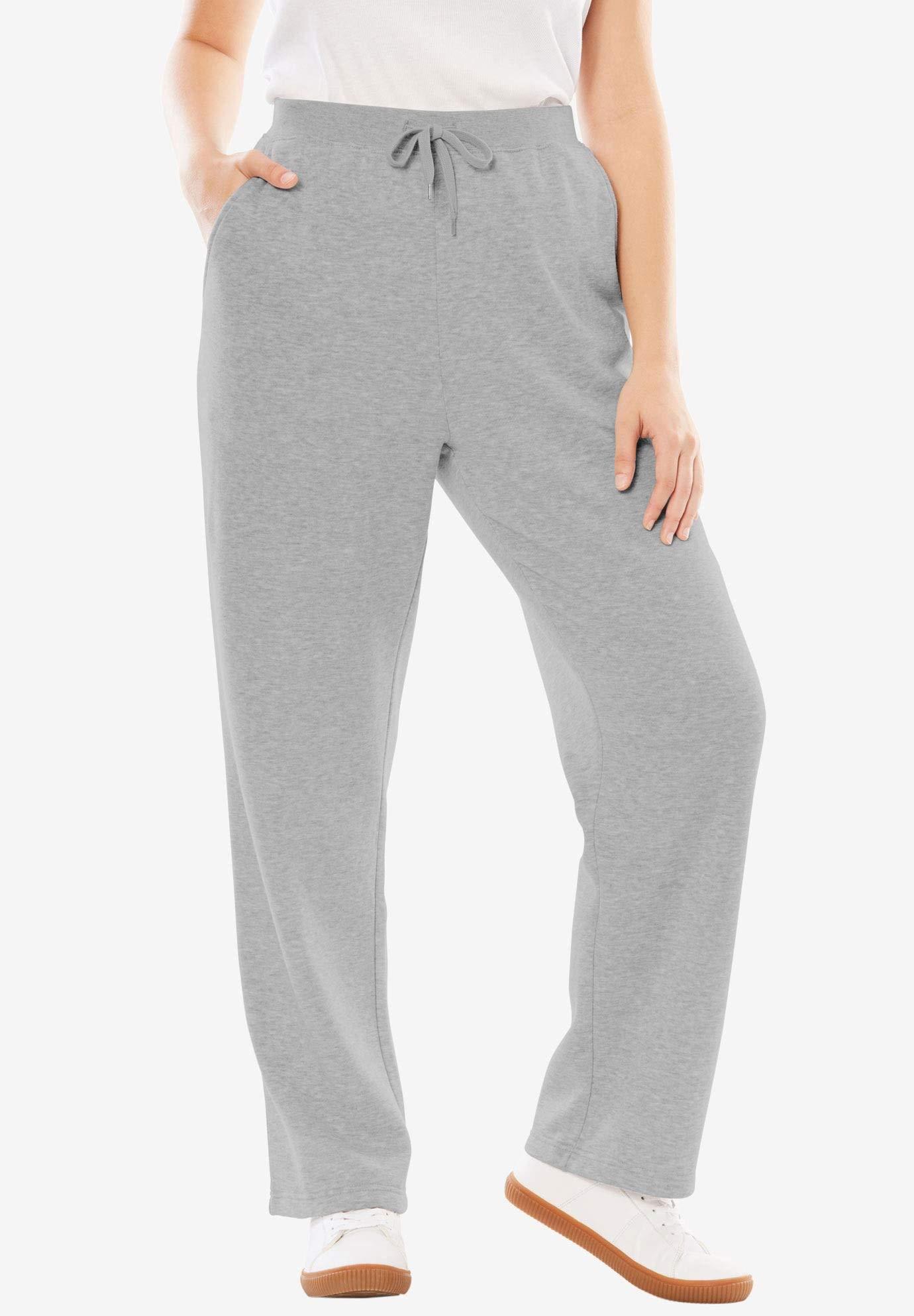 Women's Plus Size Petite Sweat Pants Easy Fleece