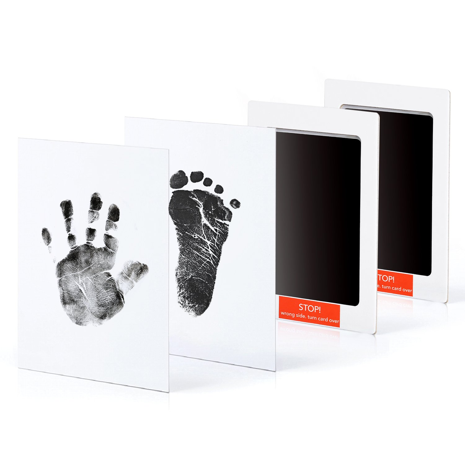Upala Baby Handprint Footprint Photo Frame Kit Newborn Boys Girls, Babyprints Paper Clean Touch Ink Pad to Create Baby's Prints, Amazing by Upala (Image #2)
