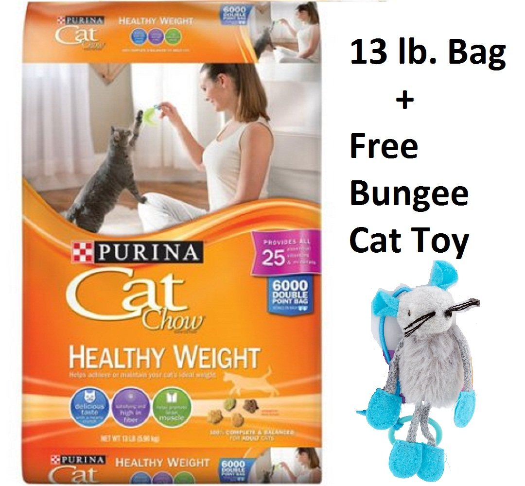Cat Chow Purina Healthy Weight Cat Food (13 lb - 6 Bags + Free Toy)