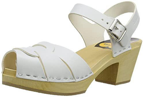 947b33e28d297 Amazon.com   Swedish Hasbeens Women's Peep Toe High Clog   Mules & Clogs