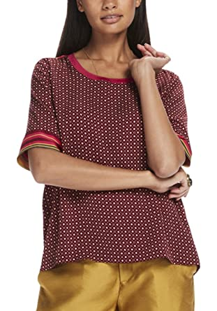 9c23f9cfed00d3 Scotch   Soda Women s Silky Feel top with Placement Prints ...