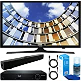 """Samsung (UN40M5300) Flat 40"""" LED HD 5 Series Smart TV (2017 Model) with HDMI 1080p HD DVD Player +Solo X3 Bluetooth Home Theater Sound Bar +2x 6ft HDMI Cable +Universal Screen Cleaner for LED TVs"""