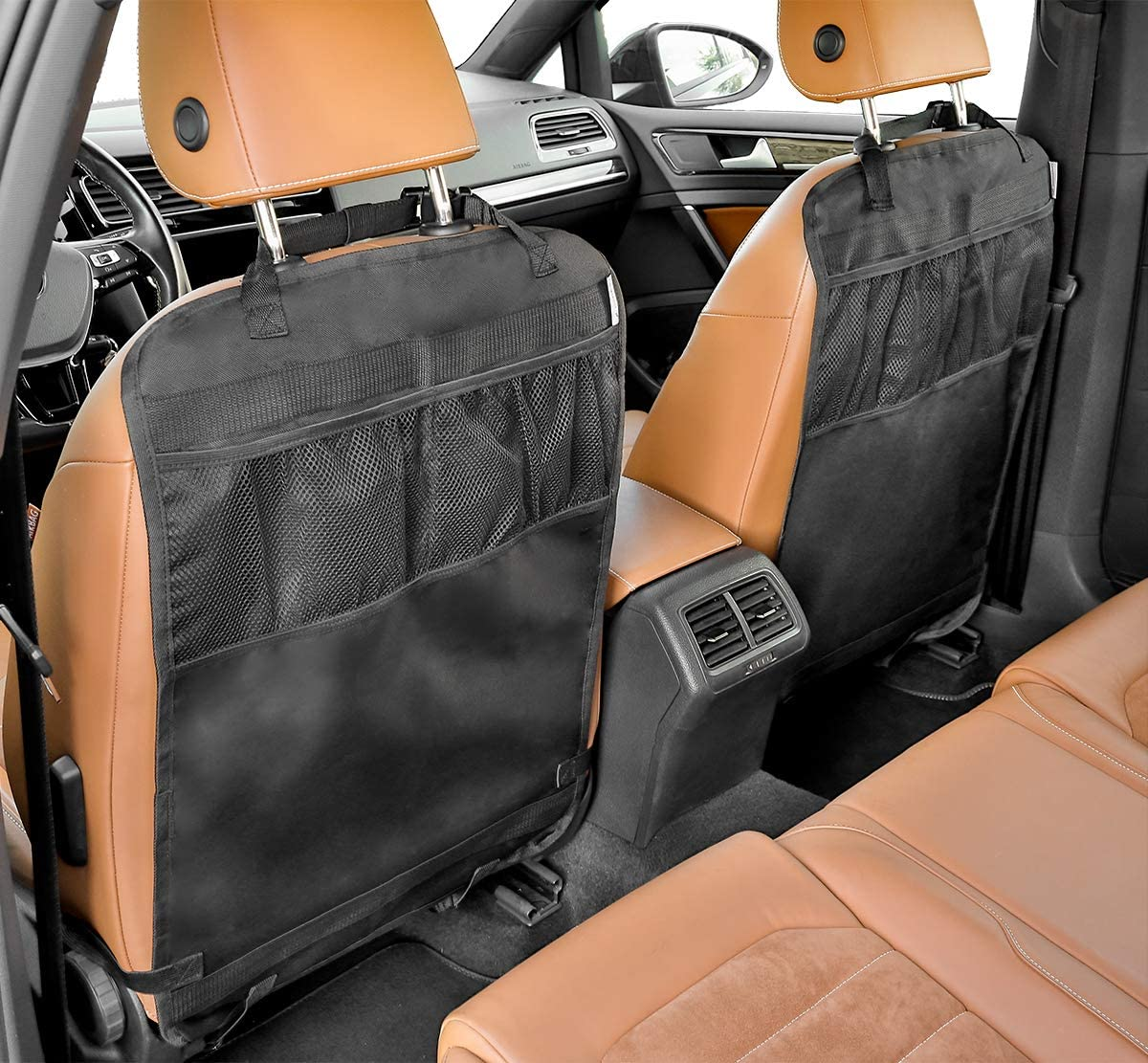 Waterproof and Stain Resistant Seat Protectors Back Seat Car Organiser LIONSTRONG Kick Mats 2-SET