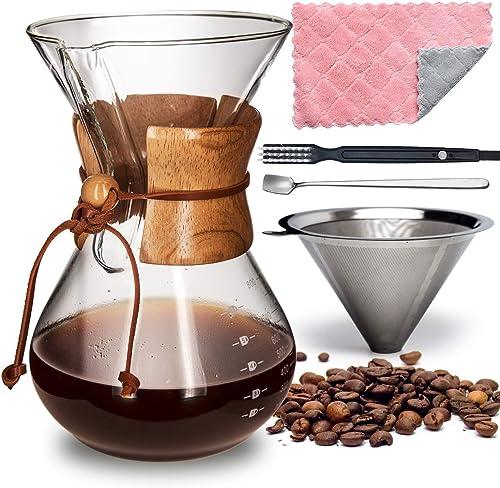 AGOGO Pour-Over Glass Coffeemaker