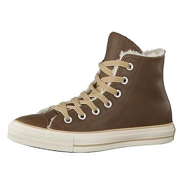 a30177935584aa Converse Damen Schuhe All Star Hi Shearling 132127C Braun Chucks Sneakers  Winterschuhe Warmfutter Dunkelbraun Größe 36