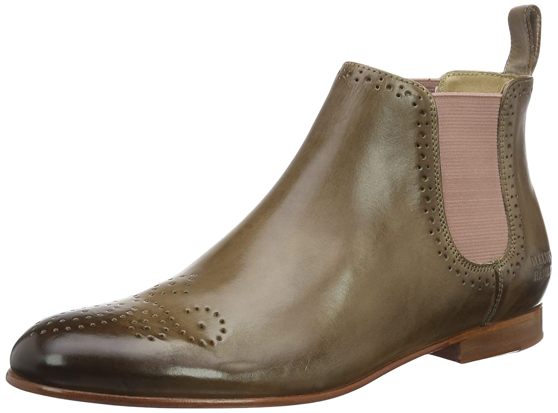 Melvin & Hamilton Damen Sally 16 Chelsea Boots, Braun (Crust Smog Ela Rose LS Nat.), 38 EU