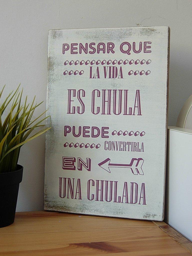 Letrero de Madera con Frases Motivadoras, Graciosas ...