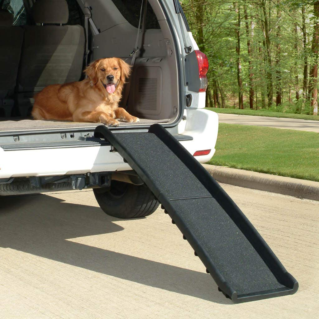 PetSafe Solvit UltraLite Bi-Fold Pet Ramp, 62 in., Portable Lightweight Dog and Cat Ramp, Great for Cars, Trucks and SUVs by PetSafe