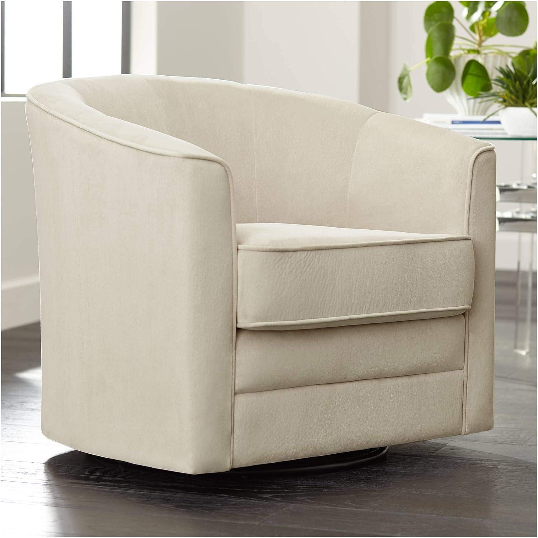 Keller Argos Muse Pearl Velvet Swivel Chair