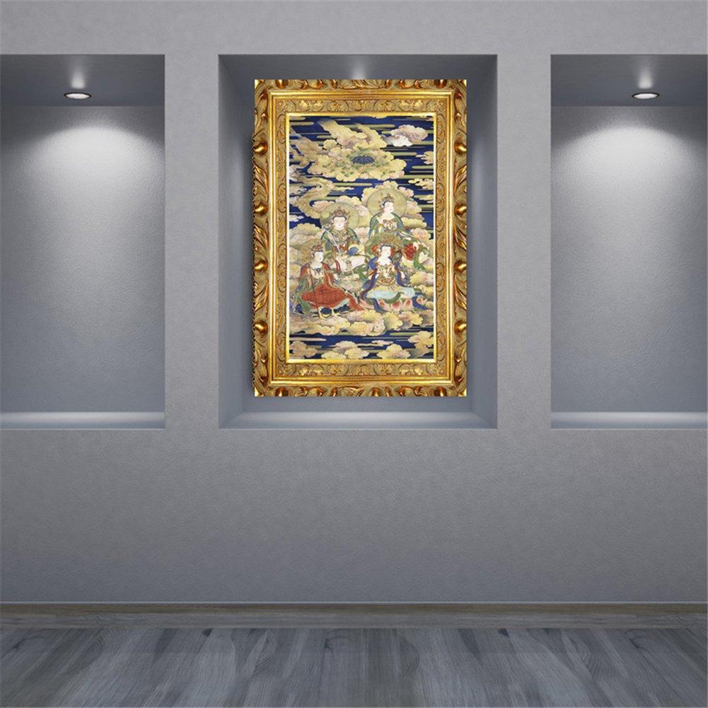 Pintura de diamante completo de punto de cruz de resina Play cuadrado aguja religiosa 5D Mosaico Rhinestone Scheme 07, canvas size90X176cm