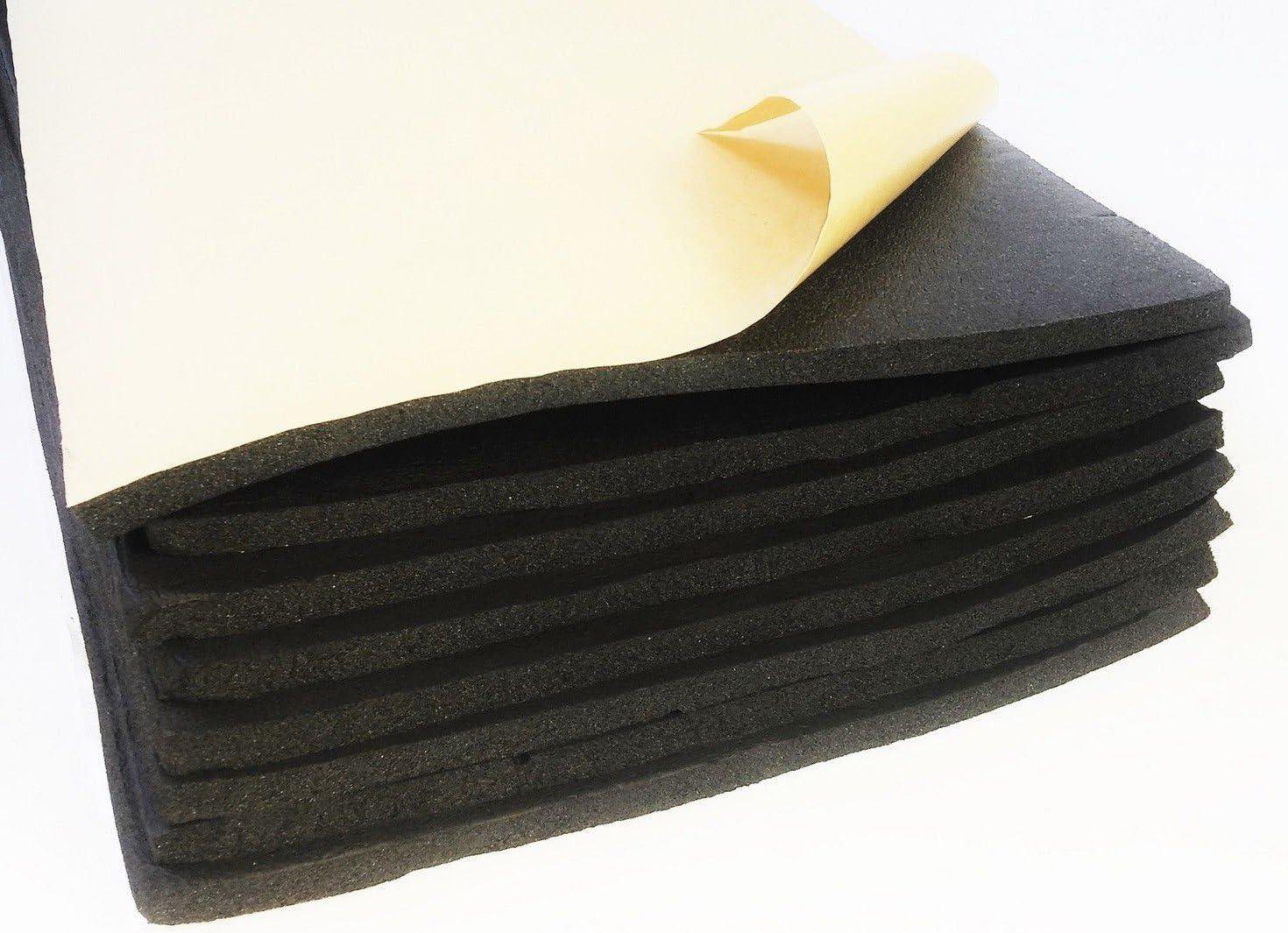 UK 12 Sheets 10mm Cell Foam Car Van Sound Proofing Deadening Van Boat Insulation