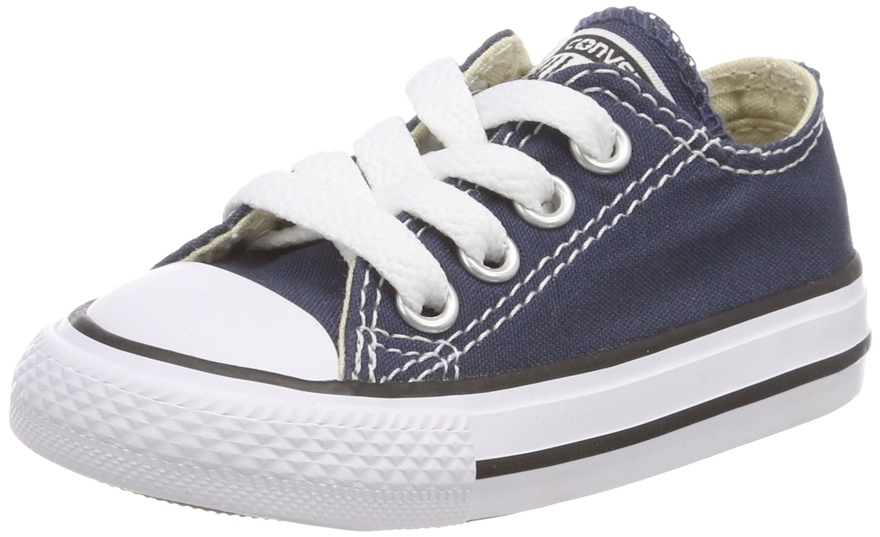 Converse Chuck Taylor All Star Canvas Low Top Sneaker, Navy, 10.5 M US Little Kid