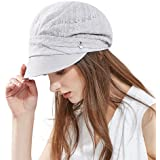 Ladies Summer Baker Boy Cap Newsboy Hats Visor Beret Sun Hat for Women  Casual Cloche Peak Cap… 6d1b02fa0af