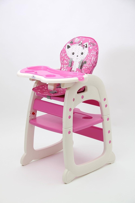 Polini Kids Baby Kinder Kombi-Hochstuhl 460 in verschiedenen Farben (pink)