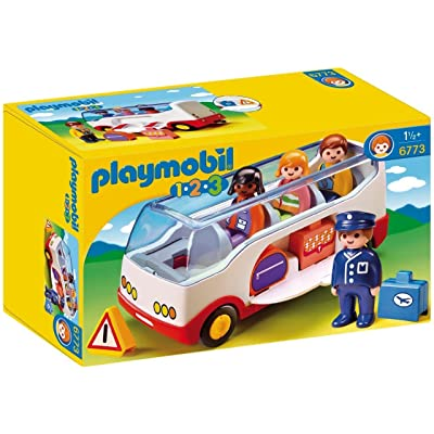 PLAYMOBIL 1.2.3 Airport Shuttle Bus: Toys & Games