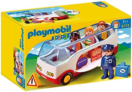 Playmobil-6773 Coche autobús,, 25.4 x 15.5 x 10.2 (6773
