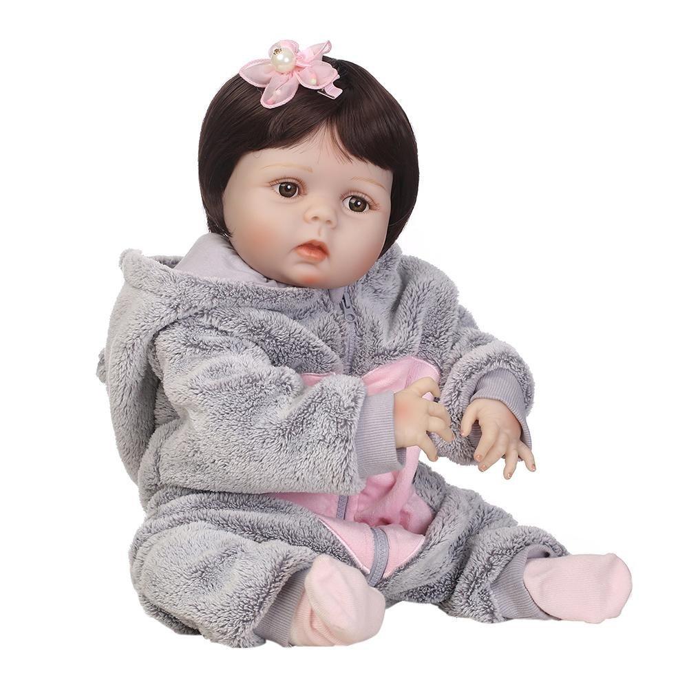 chinatera Kids Toys NPK Artificial Soft Silicone Reborn Baby Dolls Simulation Lifelike Infants Doll by chinatera (Image #1)