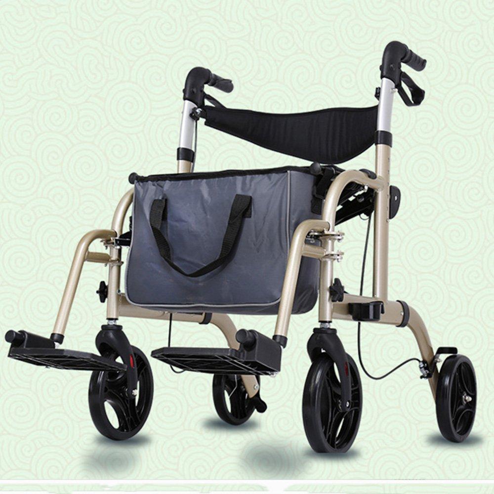 QFFL 車いす高齢者ウォーカークォーターリサイクルウォーカー古いショッピングカート2色あり 松葉杖ウォーカー (色 : B) B07B2P96PY B B