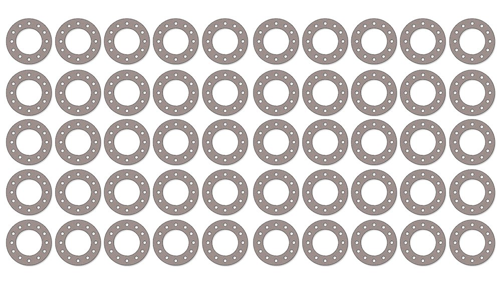 1-1//4 Pipe Size Sterling Seal CFF7540.1250.062.150X50 7540 Vegetable Fiber Full Face Gasket Pack of 50 Pressure Class 150# 1//16 Thick 1.66 ID