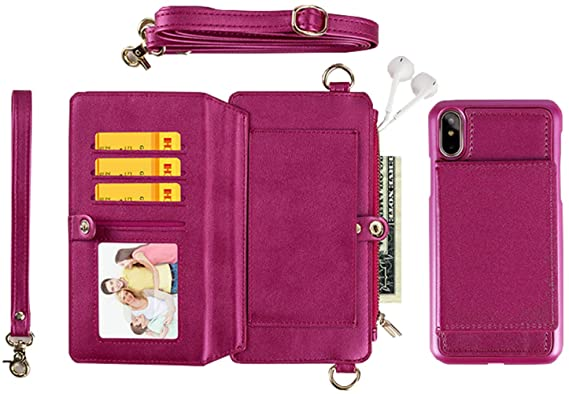 1283312d0d50 Amazon.com: SGVAHY Leather Wallet Case for iPhone 6 / 6s, Handbag ...