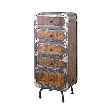 Möbel Ideal Kommode Saigon Aus Mangoholz Und Metall Anrichte Im