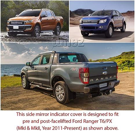 Tunez Schutzabdeckung Für Seitenspiegel Matt Kompatibel Mit Raptor Ranger T6 Mk2 Baujahr 2011 2021 Xl Xls Xlt Wildtrak Schwarz Auto