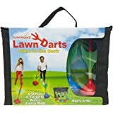 Funsparks Lawn Darts - Glow in the Dark Set - Outdoor Backyard Toy