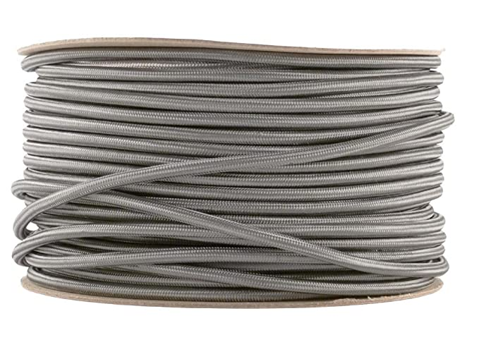 Elephant Grey Fabric Cable | Coloured Flex | 3 Core Round: Amazon.co ...