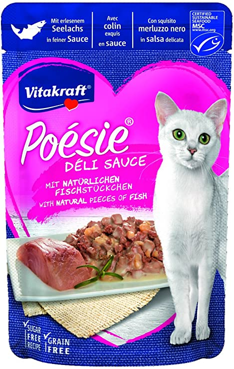 VITAKRAFT Vita Fuerza Gato Forro húmedo Forro Poésie Deli de Sauce Pouch Bolsa