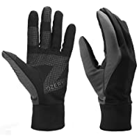 OZERO winter gloves, mens windproof and water resistant warm gloves for walking,driving,running and cycling,1 pair