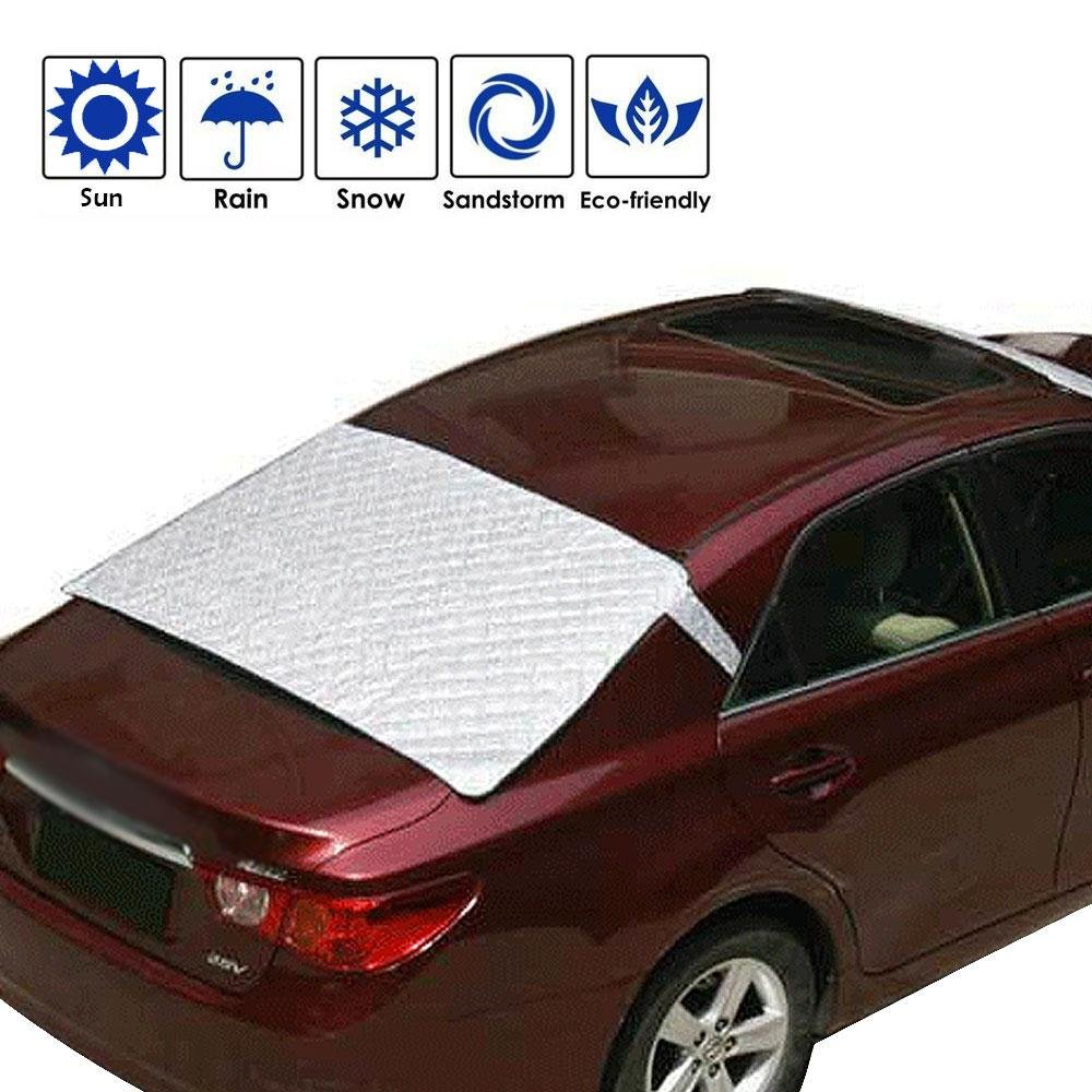 Car Windshield Snow Cover , Aolvo Universal Sun Shade Protector with Cotton Thicker Snow Protector Cover Fits Most of Car