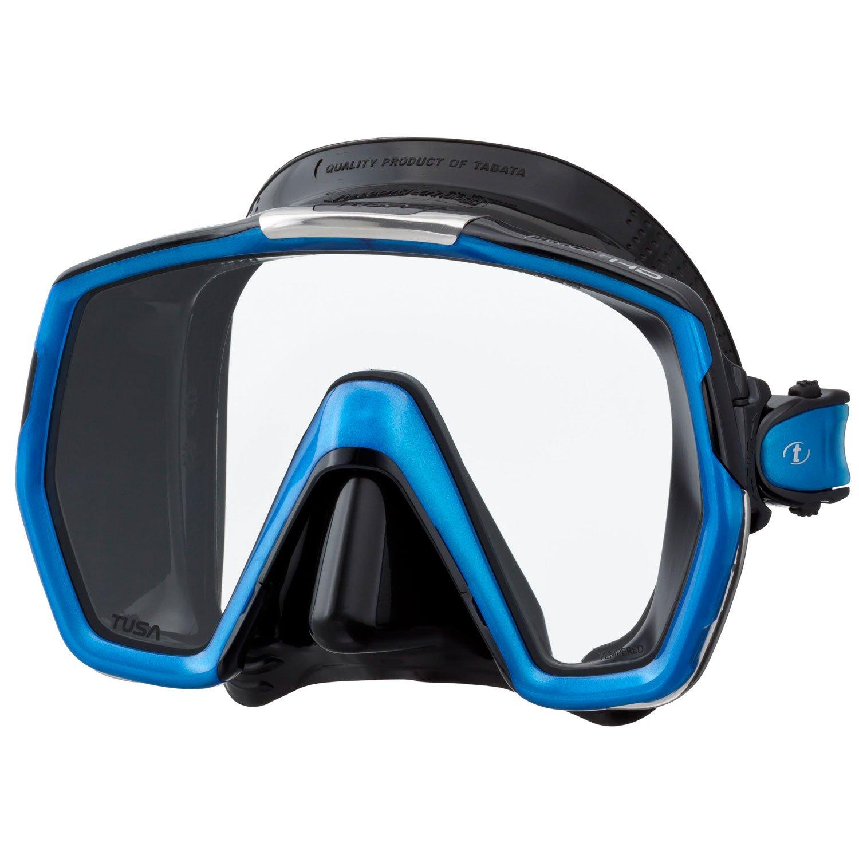TUSA M-1001 Freedom HD Scuba Diving Mask, Black/Fishtail Blue
