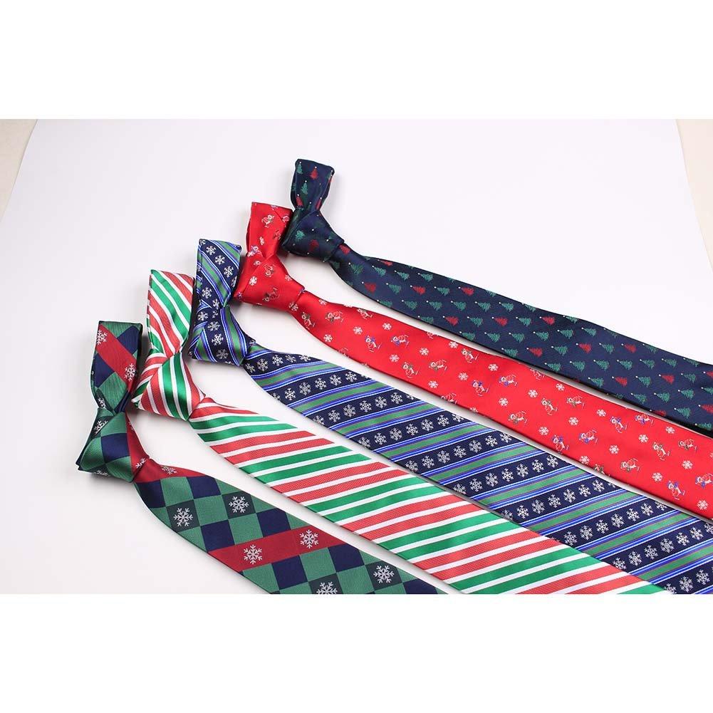Men's Woven Microfiber Tie Solid Satin Necktie Standard Length Christmas Eggplant Handmade Neck Tie Various Pattern by YQDong (Image #2)