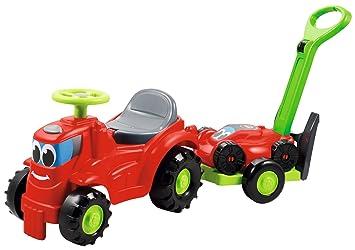 Smoby (SMOBH) Tractor con Remolque Que Incluye cortacésped Color Negro, Verde, Gris, Rojo (350: Amazon.es: Juguetes y juegos