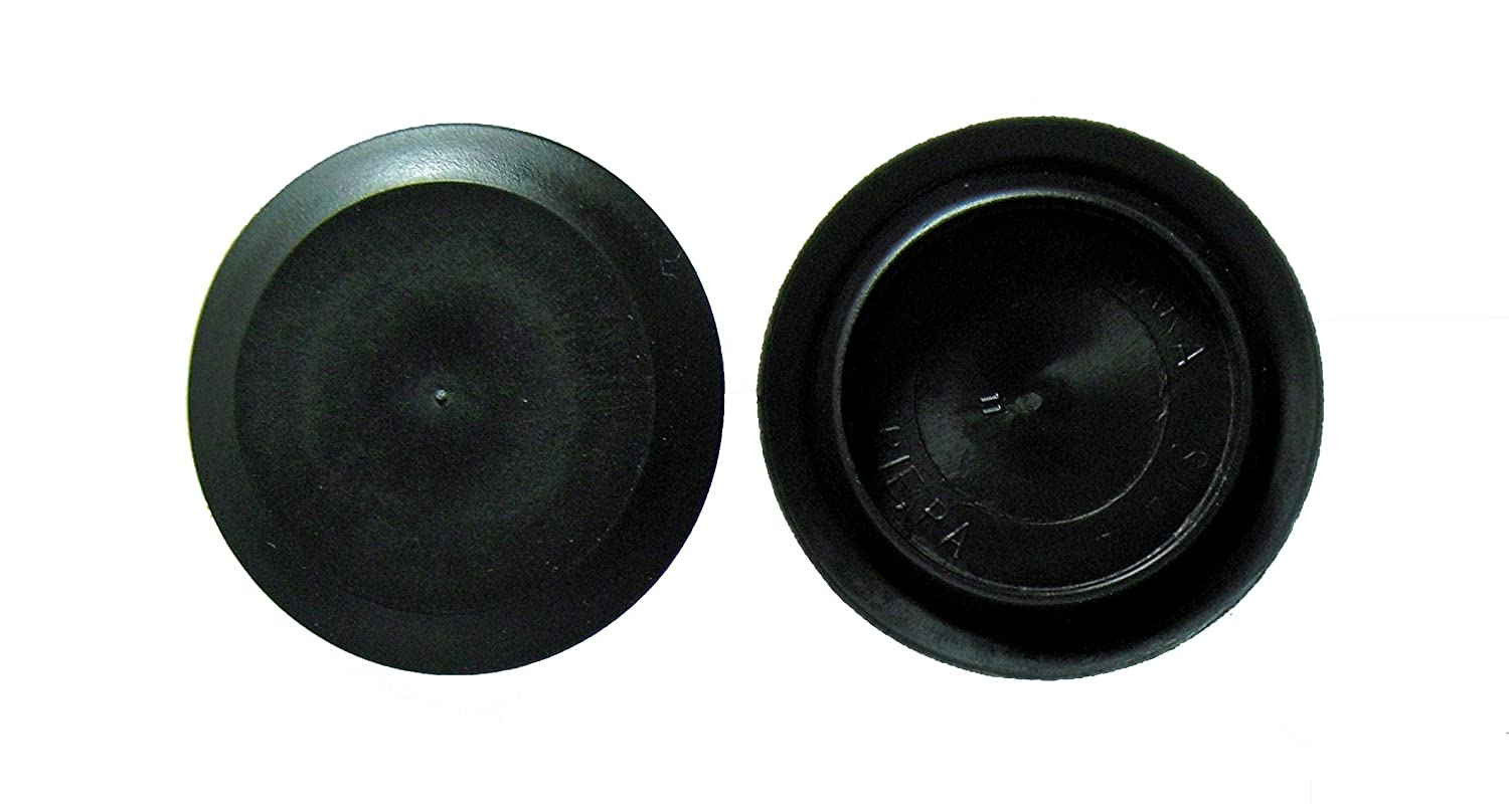 2 1/2' 2.5 inch Flush Mount Black Plastic Body and Sheet Metal Hole Plug Qty 5 Caplugs BPF