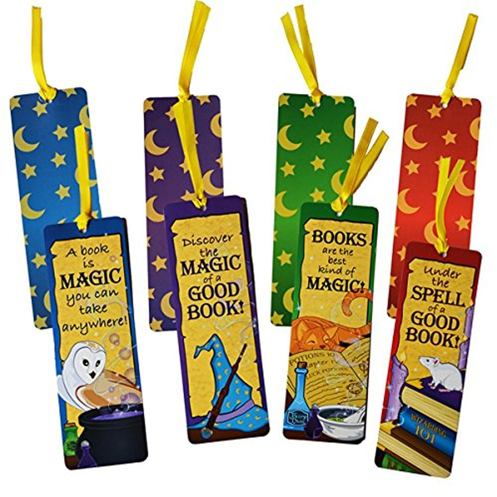 48 . Laminated Wizard's Academy Bookmarks - Harry Potter party supplies
