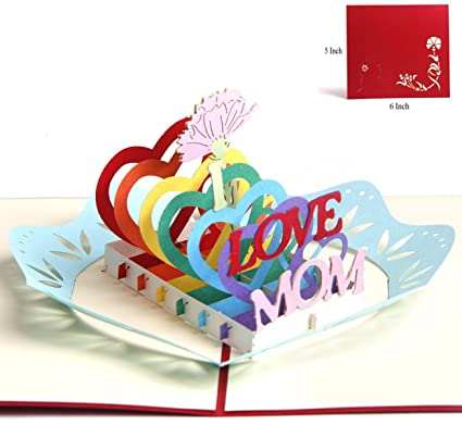Mothers Day Pop Up Greeting Card Gifts