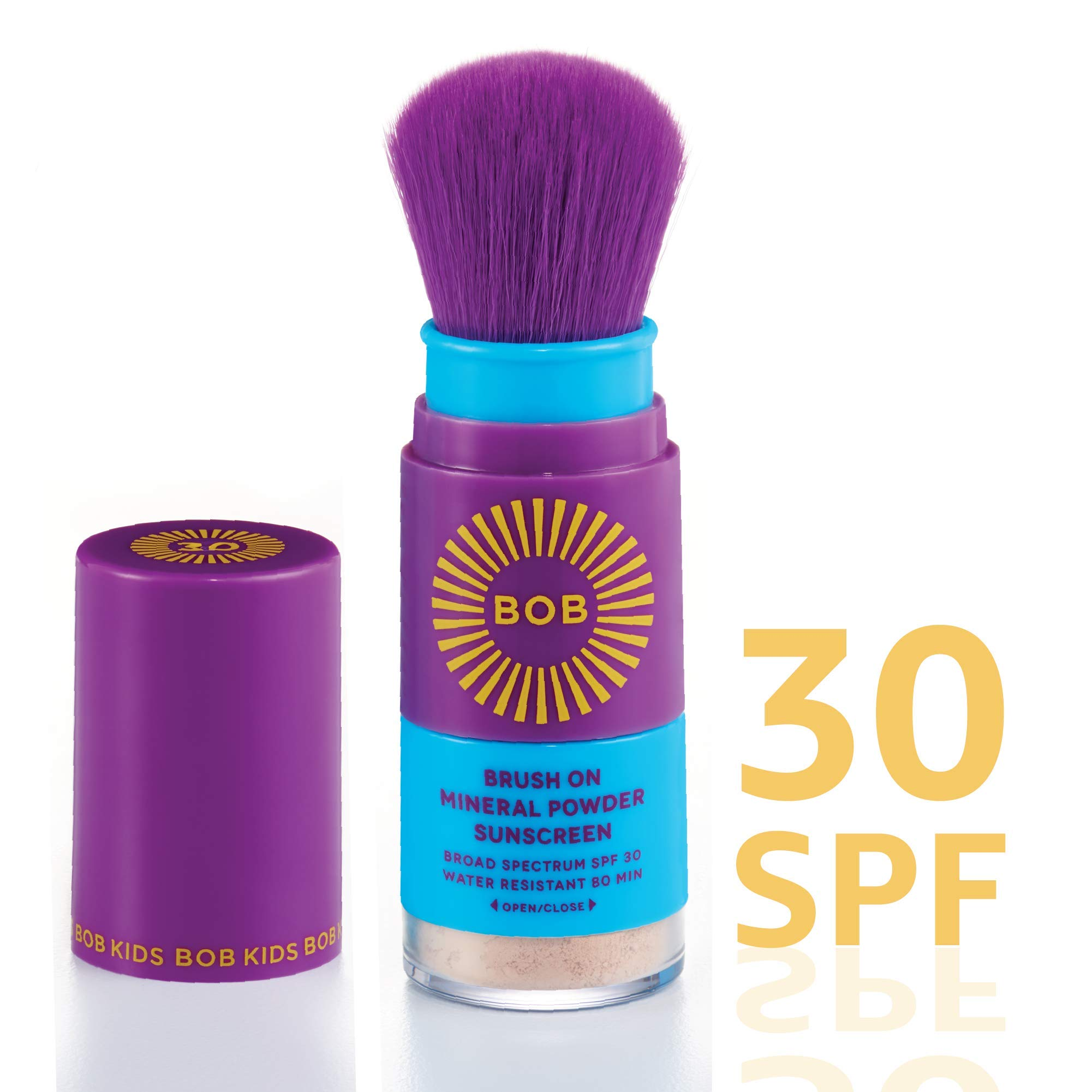 BOB KIDS Brush On SPF 30 Broad Spectrum Mineral Powder Sunscreen by Brush On Block