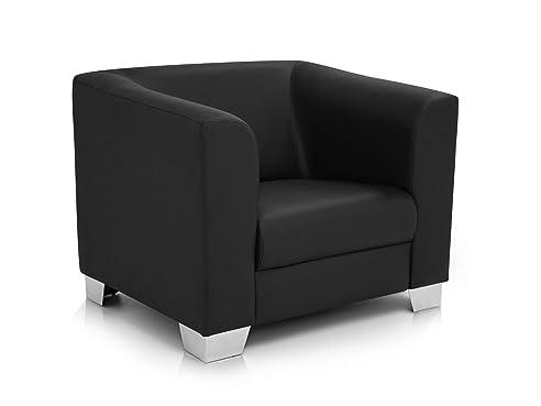 Sessel zeichnung  CHICAGO Sessel / Ledersessel, schwarz: Amazon.de: Küche & Haushalt
