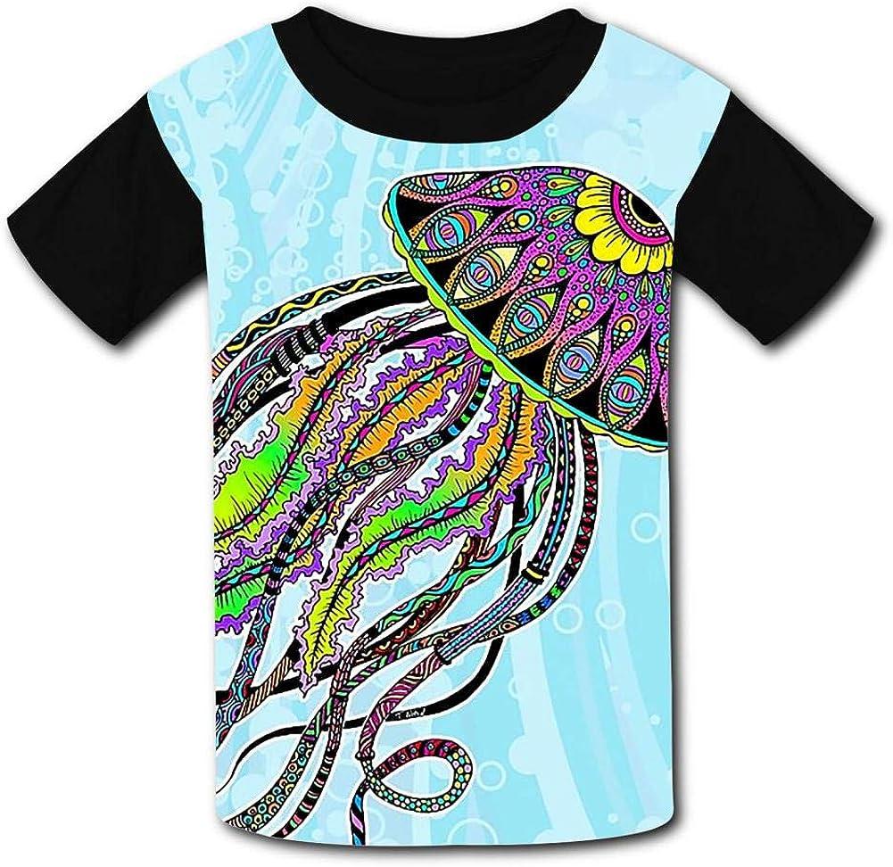 Kids Custom Electric Jellyfish T-Shirts Boys Girls Teenager Tee Shirt Children Youth Graphics Tees