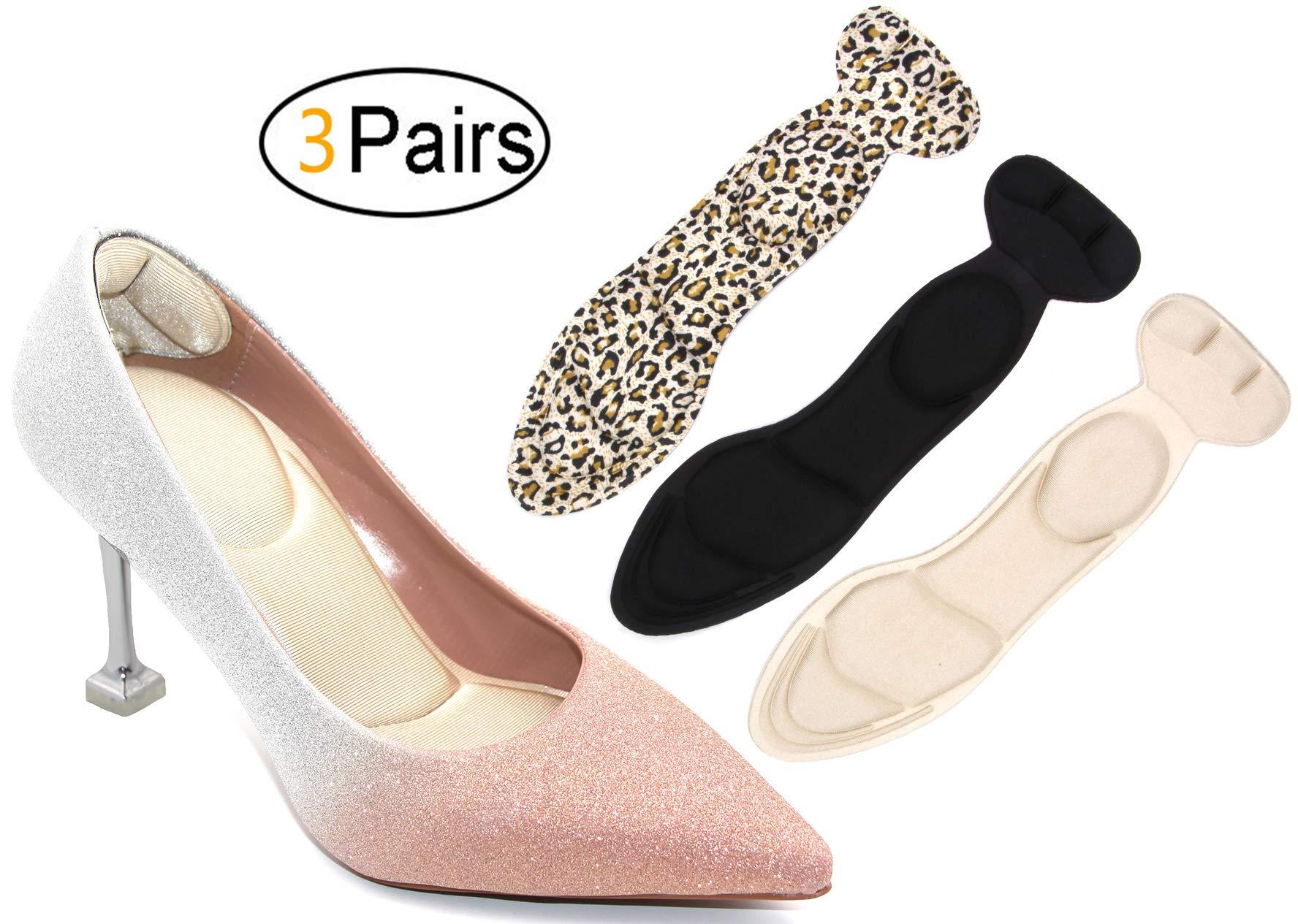 Heel Cushion Inserts - Heel Grips & Shoe Pads for Women-Heel Pads Non-Slip Sponge Insole 2 in 1 by 10AGIRL