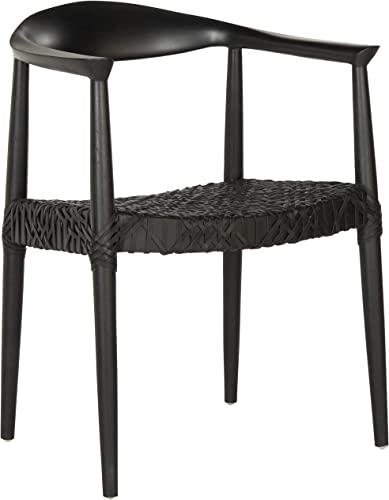 Safavieh Home Collection Bandelier Arm Chair, Black Black