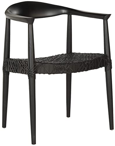 Safavieh Home Collection Bandelier Arm Chair, Black Black
