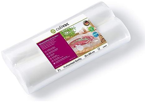 culivac Rollos de plástico para envasar al vacío Professional de 28 x 600 cm, 2 Rollos (R28600P)
